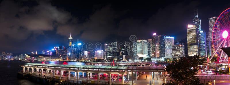Hong Kong - August 8, 2018: Hong Kong island central harbor and. Hong Kong - August 8, 2018: Hong Kong island downtown central harbor and downtown modern royalty free stock images