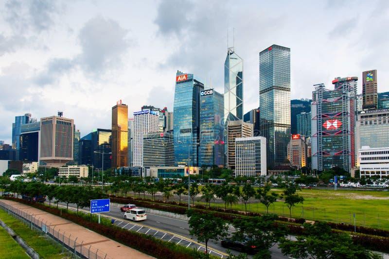 Hong Kong - 8. August 2018: Wolkenkratzer und moderne Gebäude von lizenzfreies stockbild