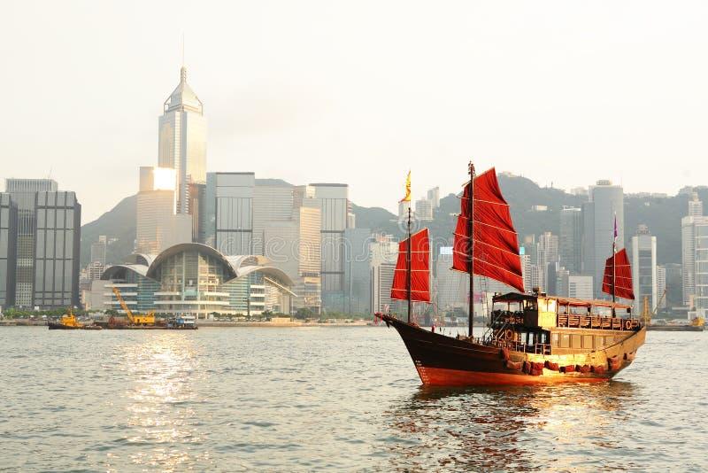 Hong Kong avec la camelote de touristes photos libres de droits