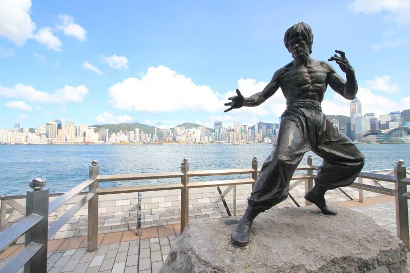 Hong Kong The Avenue de estrellas imagenes de archivo