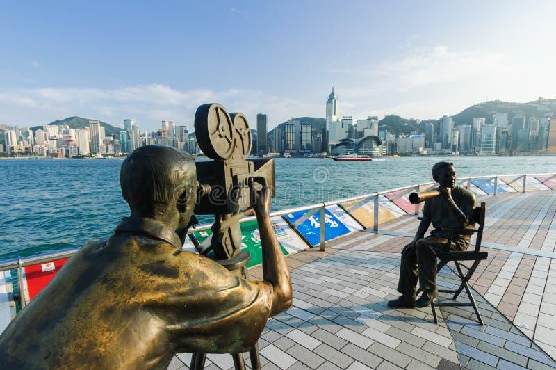 Hong Kong Avenue des étoiles photos stock