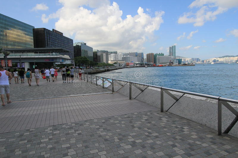 Sea, boardwalk, sky, pier, walkway, city, coast, beach, water, coastal, and, oceanic, landforms, recreation, tourism, condominium, stock images