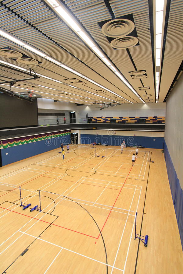 Sport, venue, structure, leisure, centre, sports, floor, arena, line, wood, flooring, indoor, games, and, daylighting, hardwood, b. Photo of sport, venue stock image