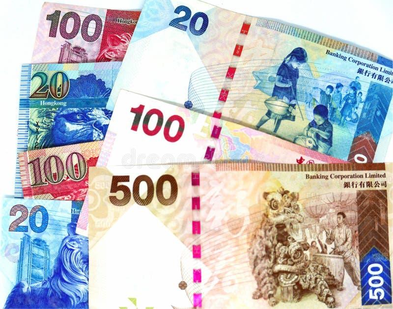 Hong Kong Bank notes stock photography