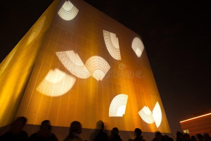 Hong Kong-berühmte Laser-harber Show stockbilder