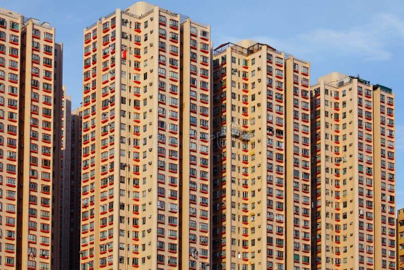 Hong Kong bostads- byggnad royaltyfria bilder