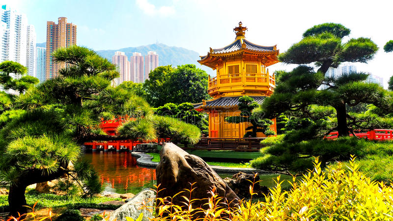 Hong Kong Botanical Gardens. Situated in Kowloon, green space in the middle of the city stock images