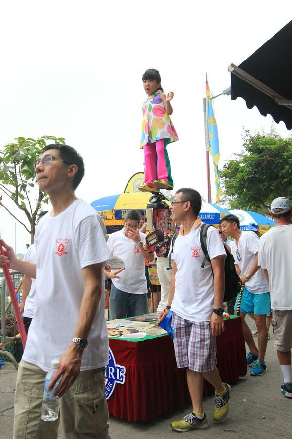 Hong Kong Bun Festival 2015 in Cheung Chau lizenzfreie stockbilder