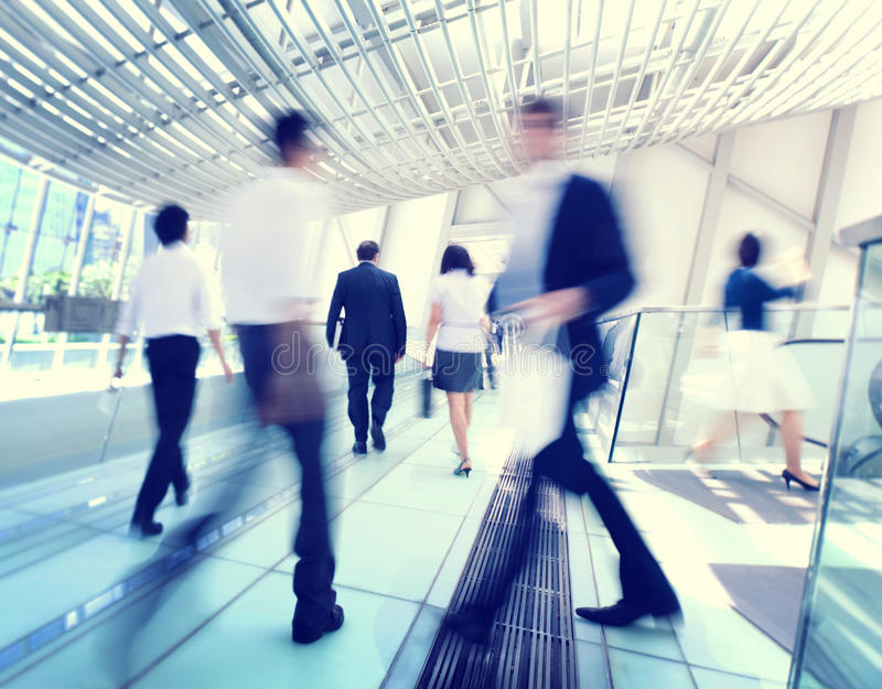 Hong Kong Business People Commuting Concept stock images