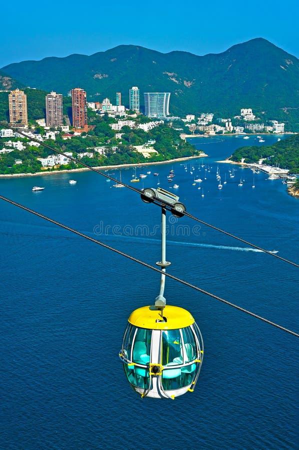 Hong kong cable car royalty free stock photo