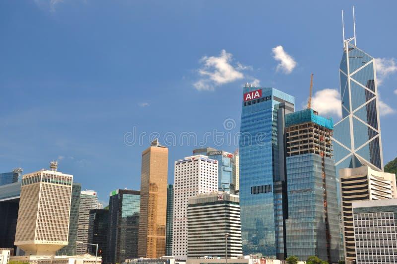 Hong Kong center område, affär och gruppbyggnader royaltyfri foto