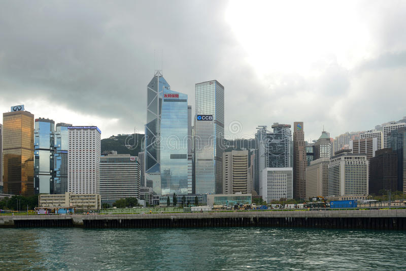Hong Kong Central Financial District foto de archivo