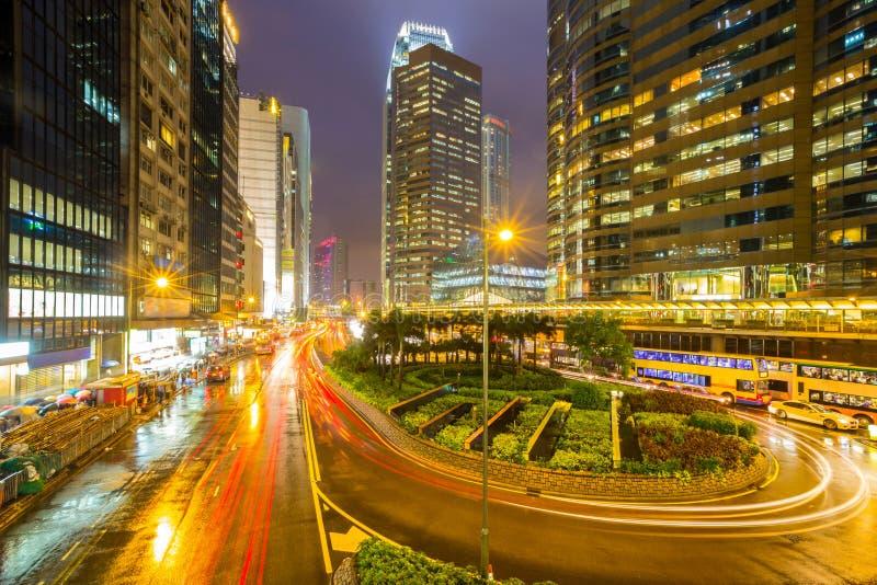 Hong Kong Central Skyline arkivfoton