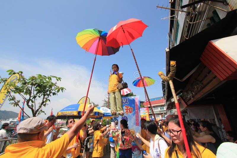 2015 Hong Kong Cheung Chau Bun Festival stock images