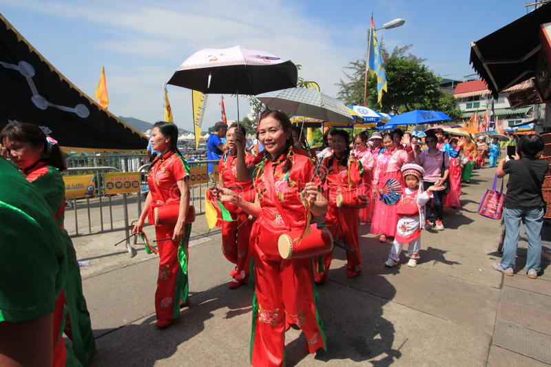 2015 Hong Kong Cheung Chau Bun Festival. Event of Cheung Chau Bun Festival, located in Cheung Chau, Hong Kong on May 25th, 2015. Cheung Chau Bun Festival, or stock photo