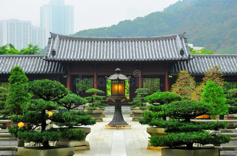 Hong kong : chi lin buddhist nunnery royalty free stock photography