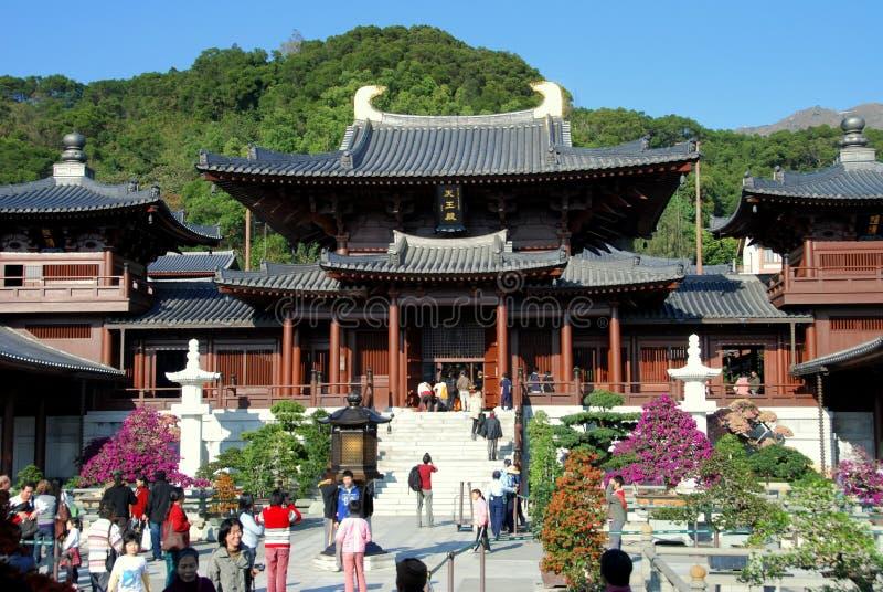 Hong Kong: Chi-Lin-Nonnenkloster lizenzfreie stockbilder