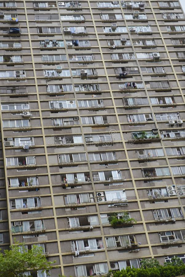 Hong Kong, China - August 15, 2018 : Dense residential building in Hong Kong stock photography