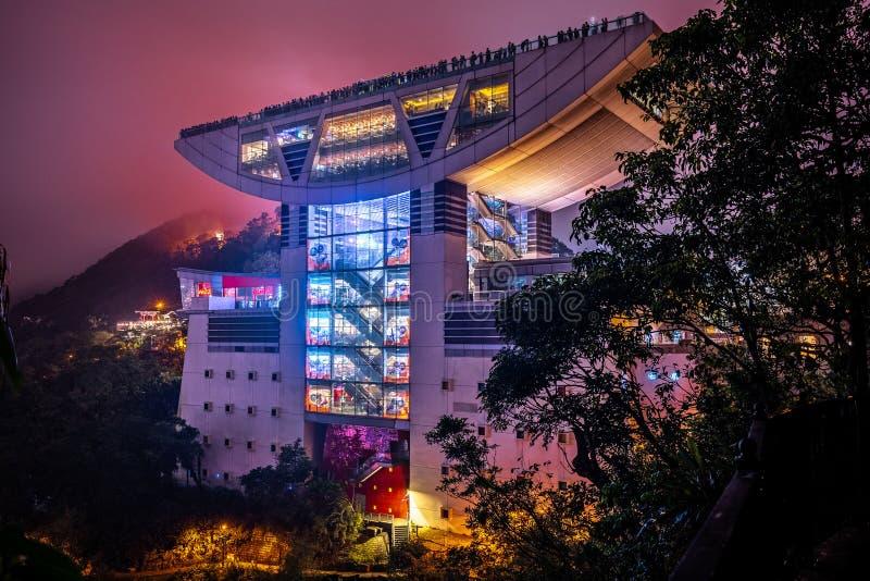 Hong Kong, China - Aussichtsplattform bei Victoria Peak stockfotografie