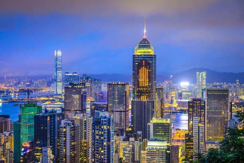 Hong Kong China City Skyline fotografia stock libera da diritti