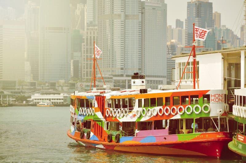HONG KONG, CHINA - MARCH 13 : Ferry cruising Victoria harbor.  stock photography