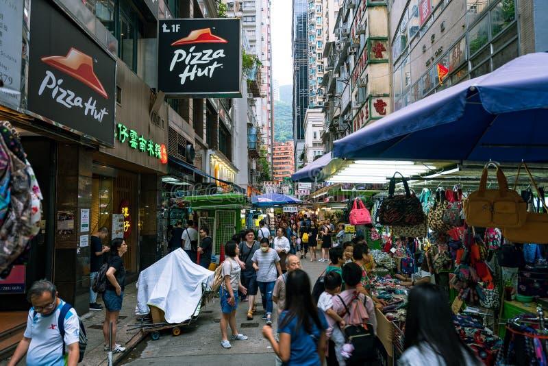 Hong Kong, China - mercado de rua imagem de stock royalty free