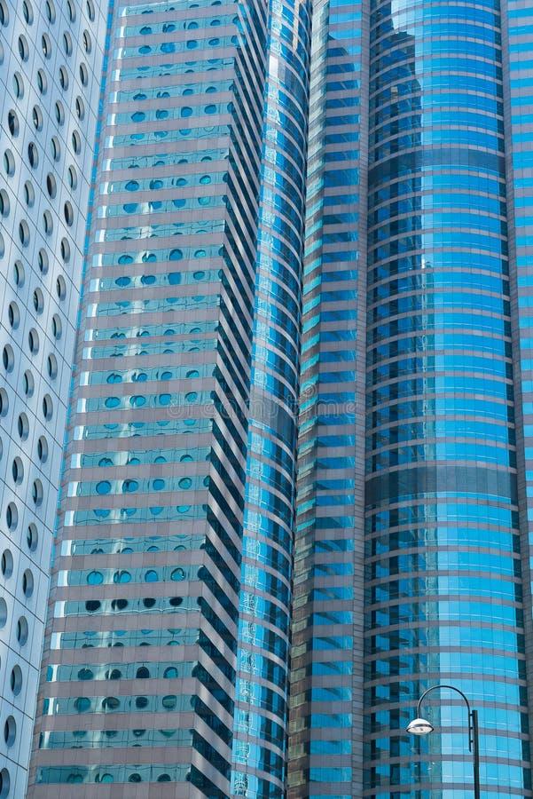 HONG KONG, CHINA - November 01 2017 De moderne bureaubouw in c royalty-vrije stock afbeeldingen