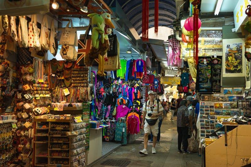 HONG KONG, CHINA - 1. November 2017 Stanley Market, ein berühmter touristischer Bestimmungsort in Hong Kong lizenzfreies stockbild