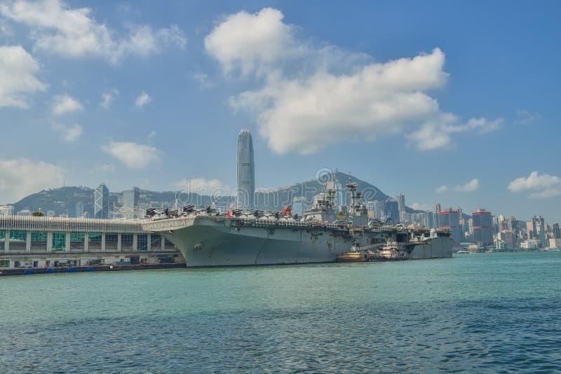 HONG KONG, CHINA - Sept 18:The U.S. amphibious assault ship USS stock photography