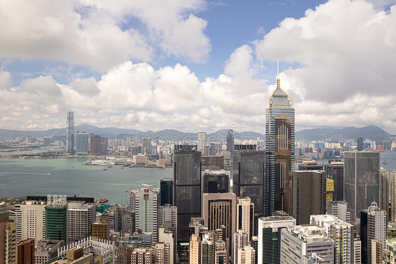 Hong Kong, China - September 22, 2017: Luchtmenings Centraal Plein royalty-vrije stock foto