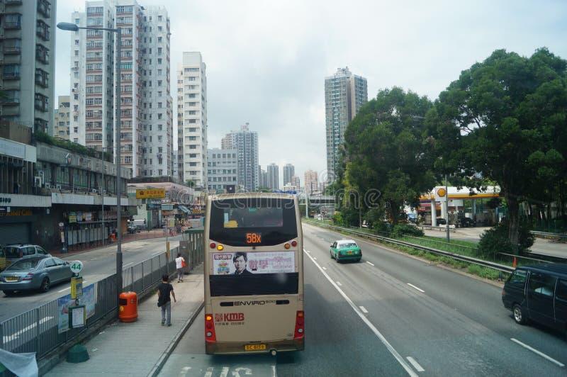 Hong Kong, China: Straßen-Verkehr lizenzfreies stockfoto