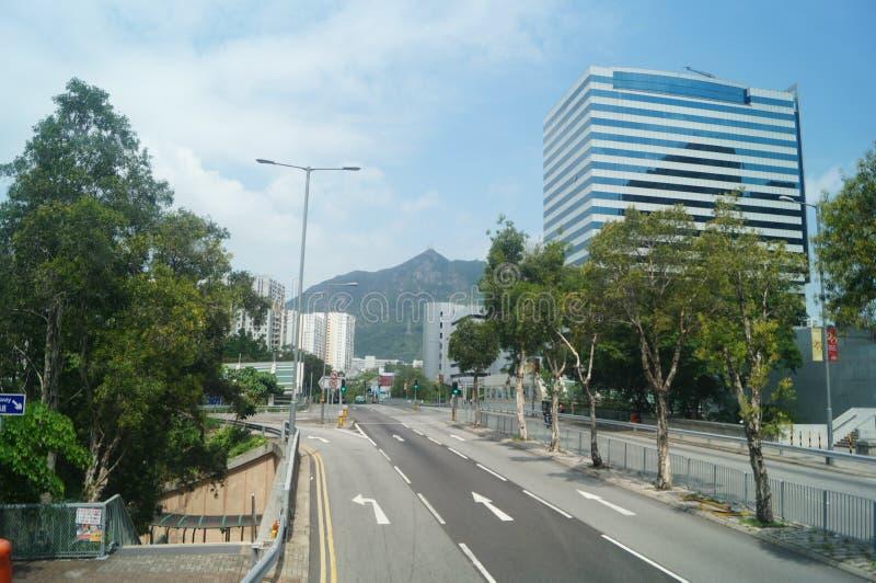 Hong Kong, China: Straßen-Verkehr lizenzfreies stockbild