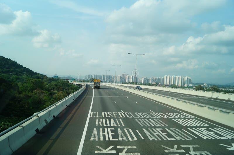 Hong Kong, China: Tráfego rodoviário imagens de stock