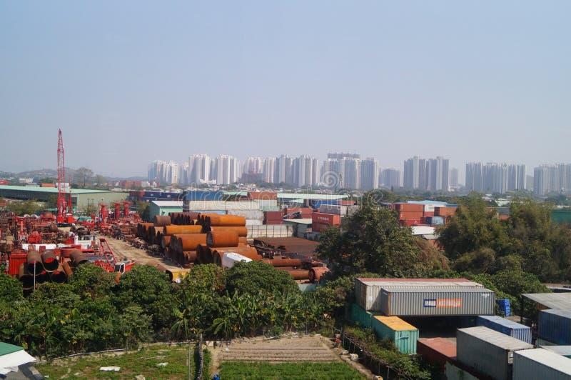 Hong Kong, China: Tuen Mun Landschaftsbild lizenzfreies stockbild