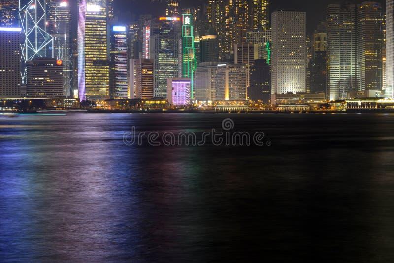 Hong Kong Skyline at night royalty free stock photography