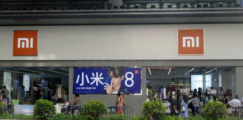 Hong Kong China 1 08 2018 Xiaomi-Specialiteitopslag royalty-vrije stock foto