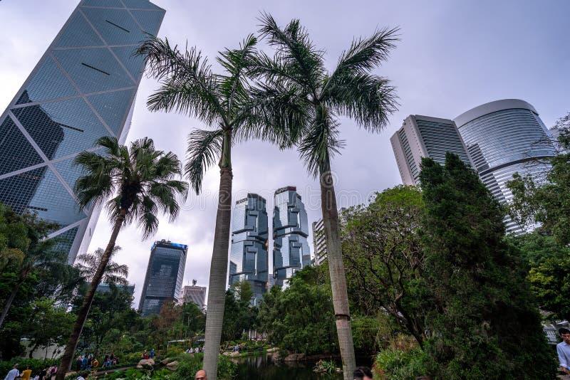 Hong Kong, Chine - conception de construction unique image libre de droits
