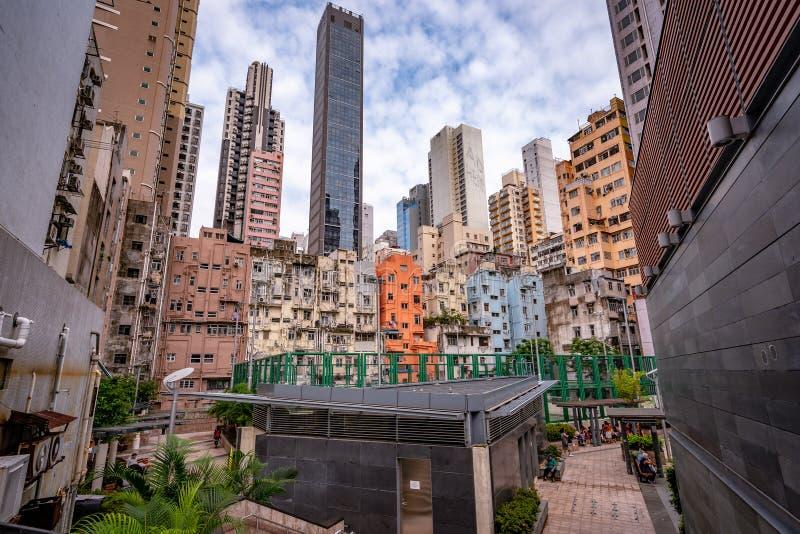 Hong Kong, Chine - horizon de ville photos stock