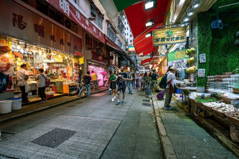Hong Kong, Chine - marché en plein air images stock