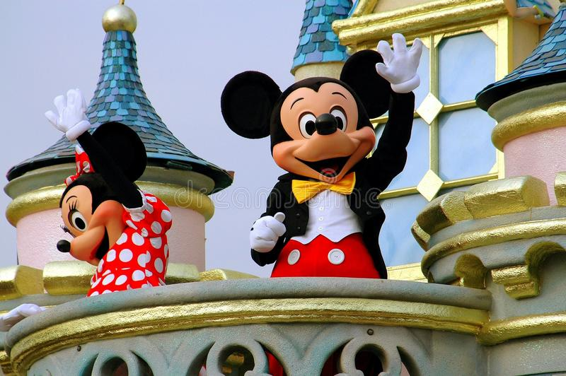 Hong Kong, Chine : Mickey et Minnie Mouse chez Disneyland image libre de droits