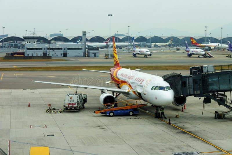 HONG KONG, CHINE - 25 NOVEMBRE 2018 : Les lignes aériennes de Hong Kong surfacent en Hong Kong International Airport image libre de droits