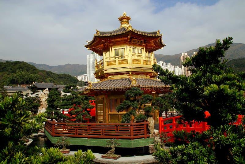 Hong Kong, Chine : Pavillon d'or photographie stock