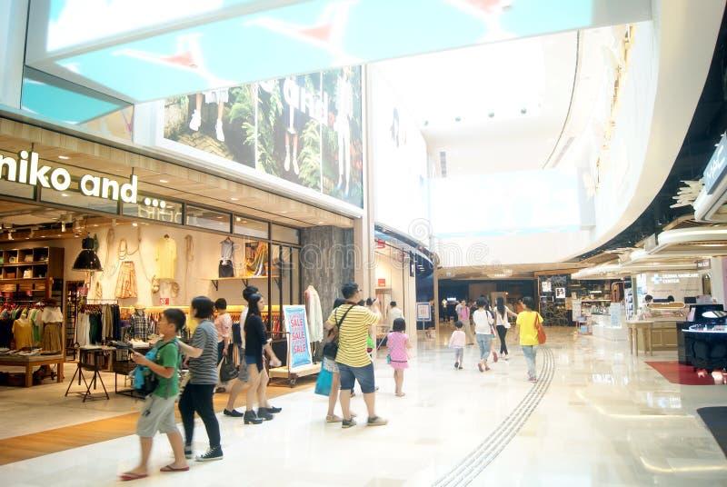 Hong Kong, Chine : ville complète à grande échelle du centre commercial V images libres de droits