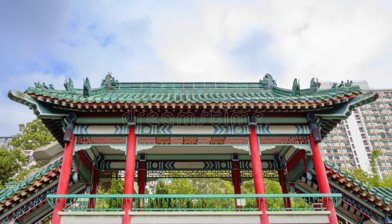 Hong Kong, Chiny, ogród dobrzy życzenia w świątynnym kompleksie Wong tai grzech obrazy stock