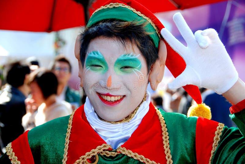 Download Hong Kong: Christmas Elf At Ocean Park Editorial Stock Photo - Image: 14370813