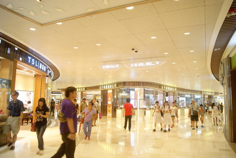 Hong Kong, Cina: città completa su grande scala del centro commerciale V fotografie stock