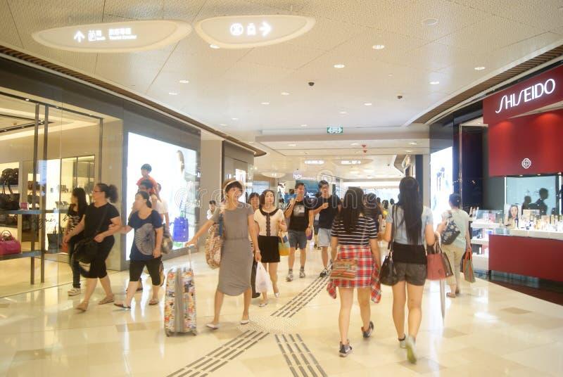 Hong Kong, Cina: città completa su grande scala del centro commerciale V fotografia stock libera da diritti