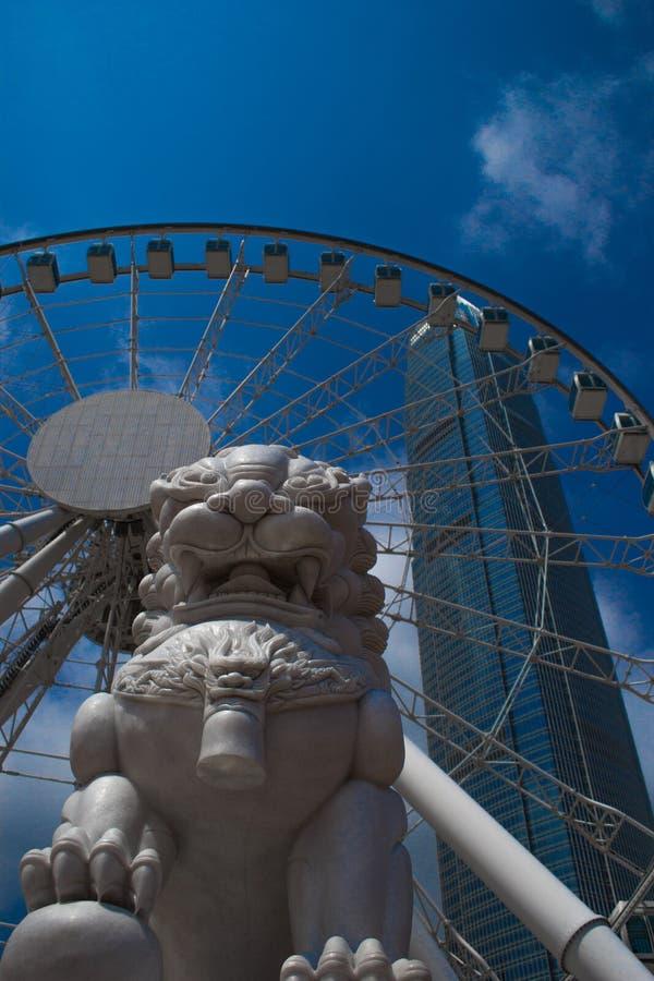 Hong Kong, Cina, 2017 - Hong Kong Observation Wheel fotografia stock