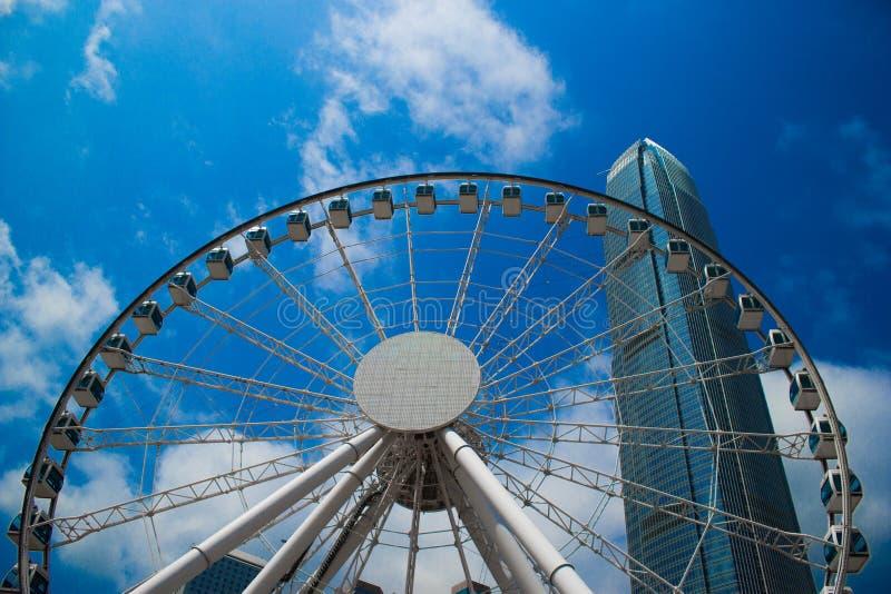Hong Kong, Cina, 2017 - Hong Kong Observation Wheel immagini stock