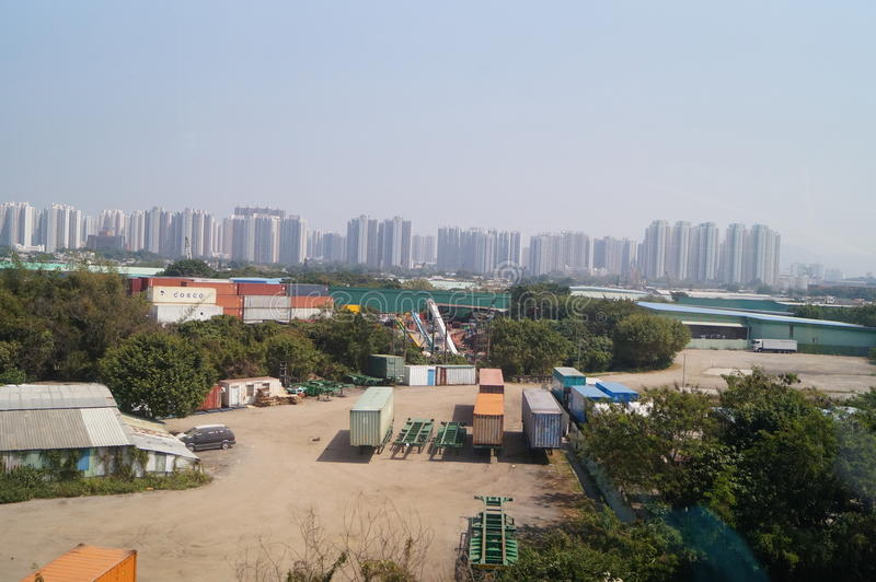 Hong Kong, Cina: Paesaggio naturale di Tuen Mun fotografia stock libera da diritti